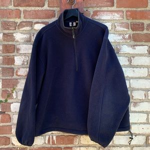 Vintage Woolrich 1/4 Zip Up Fleece Navy Size XL